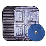 Lastolite LL LB5717 アーバン 折りたたみ式 5 x 7フィート シャッター/アンティーク風ドア背景
