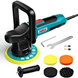 ENEACRO Polisher, 6-inch Dual-Action Random Orbit Car Buffer Polisher, 6-Level Variable Speed 2000-6400RPM, 4 Foam Pads Ideal for Boat,Car Polishing, Waxing and Home Appliance