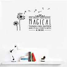 Liuaio Wall Sticker Removable Home Decor Wall Vinyl Decals The Most Fantastic Magical Things Can Happen and It All Starts with A Wish