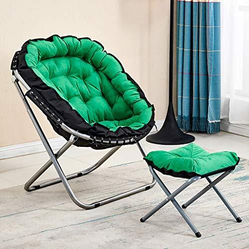 Klapstoel campingstoel met comfortabele tweedelige voetensteun - draagkracht 120 kg A4