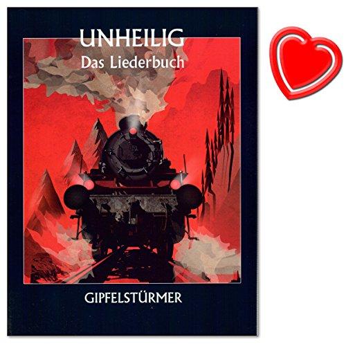Unheilig: Gipfelstürmer - Das Liederbuch - das dritte Songbook der erfolgreichen Band (2015) - Bildmaterial und ganz persönliche Worte zu jedem Song - mit herzförmiger Notenklammer