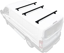 Vantech H3 2-Bar Aluminum Rack System Fits: Ford Transit Cargo 2015-On Black