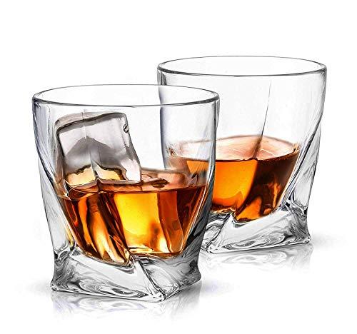 ecooe Whisky Gläser Crystal Whiskey gläser Whiskey Glas Set Whiskybecher 300ml