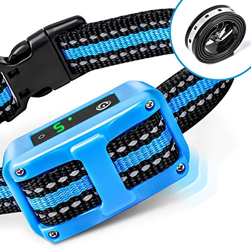 PetYeah Bark Collar [2019 Upgrade Version] No Bark Collar Rechargeable Anti bark Collar with Beep Vibration and No Harm Shock Smart Detection Module Bark Collar for Small Medium Large Dog