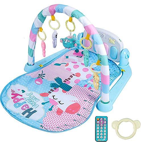 N/Z Home Equipment Baby Play Piano Gym Music Game Manta Toy Baby Foot Ejercicio Rack Fitness Rack Toy con Piano Toy para 0 1 años de Edad (Color: Blue Size: 74X57x44cm)
