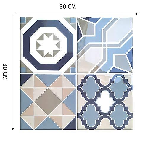 Byrhgood 10 unids Autoadhesivo Cocina Impermeable Vinilo Mosaico cáscara y Palo Retroceso Flash Pegatina de Pared Azulejos (Color : MSSB 722)