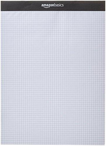 Amazon Basics - Blocco di carta a quadretti, 2 pezzi, 20,5 x 22,7 cm