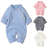 Tianhaik Baby Footies Stricken Strampler Overall Langarm Outwear Outfits Pullover Overall Winter...