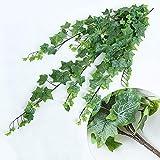 DERUKK-TY Planta de Enredadera Colgante de Hiedra Artificial Planta de follaje de plástico Planta de Arrastre Artificial Colgante para Pared Habitación de casa Jardín Boda Decoración Exterior