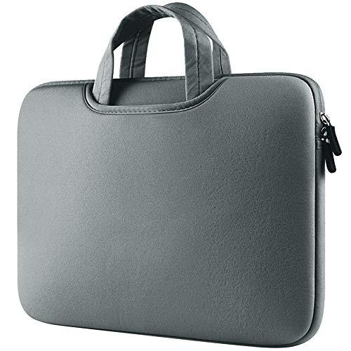 Funda para Portátiles,11-11.6 Pulgadas Maletín con Asa para Ordenador Portátil Notebook - Ultrabook Tablet de Maleta Bolsa de Transporte,Gris
