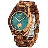 Wooden Watches, shifenmei S5518 Women Wooden Watch Japanese Movement Lightweight Analog Quartz Wooden Strap Handmade Luxurious Wood Wrist Watches with Wood Box (Zebra Wood)
