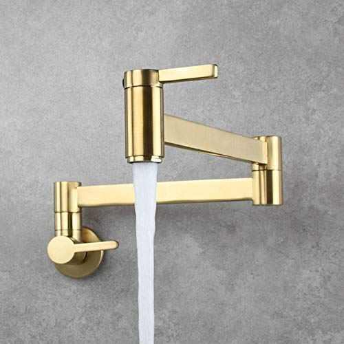 Folding Kitchen Faucet Double Switch North American Bronze Sink Bathroom Faucet Kitchen Faucet Durable Mixing Faucet Sprayer Hot And Cold Water Faucet Angle Rotating Water Jet Single Faucet Bathroom