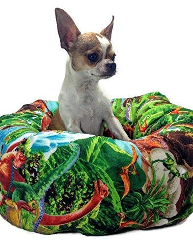 Dinosaur Round Pet Bed