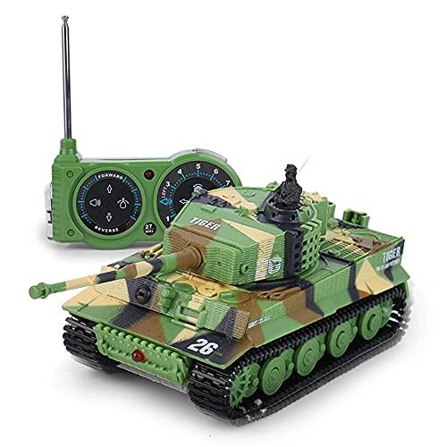 WZRYBHSD Tanque De Control Remoto Militar del Ejército con Cable De Cargador USB, Mini Tanque De Juguetes RC con Sonido Tanque De Batalla por Infrarrojos, Mini Tanque RC De 4.7 Pulgadas Coche Militar