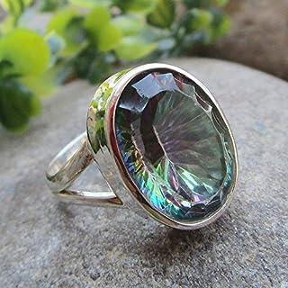 925 Sterling Silver Mystic Quartz Ring Gemstone Handmade Jewelry