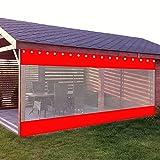 AWSAD Outdoor Vorhang, Multifunktionsplanen, Carport-/Garten-/Pavillonvorhänge, Wetterfest, Unterstützen die Anpassung (Color : Red, Size : 1x1.8m)