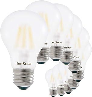 SunSeed 10x Bombilla Estándar Filamento LED Esmerilada E27 9W = 90W Blanco Neutro 4000K