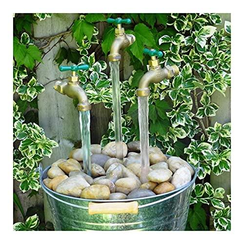 woyada Grifo invisible que fluye la fuente de riego del canalón, aleación de zinc flotante decoración de la fuente para el patio del jardín del hogar (31 10 4.5 cm)