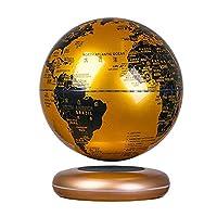 HUHN 磁気浮上フローティンググローブバレンタインギフト彼への自己回転ボール反重力世界地図EarthCoolTechガジェット