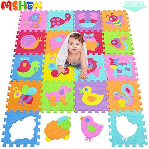 MSHEN 18 TLG. Puzzlematte Spielmatte Kinderteppich Spielteppich Schaumstoffmatte Kinder Matte Lernteppich schadstofffrei-1011G300918