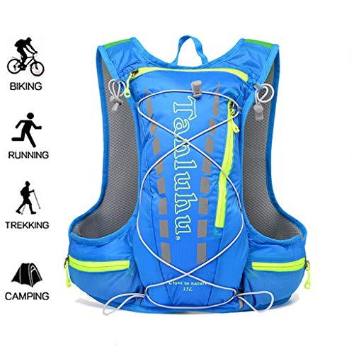 WUZHENG 15L Ultralight Running Backpack Fahrradtasche Cycing Rucksack Langlauf-Rennen Wasserabweisende Tasche,Blue