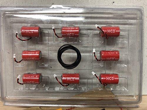 8er Sparpack DOM Protector Batterie -HCB - NEUE GENERATION 3,6V ER14250M mit Dichtungsring HERSTELLUNGSDATUM APRIL 2018 MIT DICHTRINGEN DOM ZERTIFIZIERT