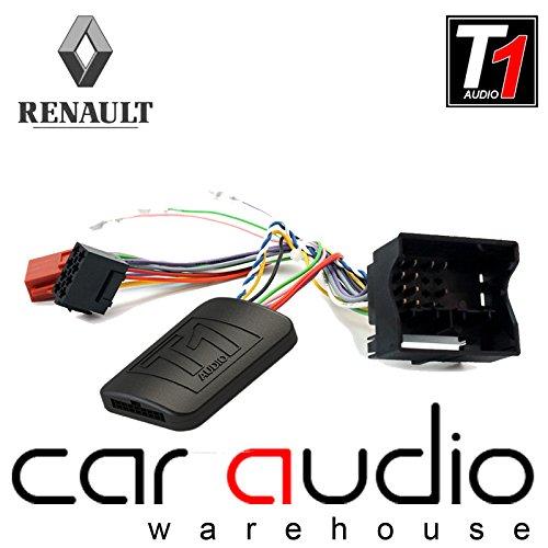 T1Audio T1-RN6 Adaptador de interfaz de control para mando de volante de coche con cable de conexión para Renault Clio, Renault Megane, Renault Scenic, Renault Wind, Renault Fluence