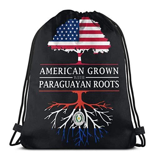 BXBX Amerikaner gewachsen mit paraguayischen Wurzeln Kordelzug Rucksack Rucksack Umhängetaschen Gym Bag