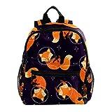 Netter Cartoon-Fuchs Rucksack süße 12-Zoll-Mini-Pack-Tasche für Kinder Jungen oder Mädchen Schultasche und Frauen Tagesrucksack 25.4x10x30cm