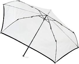 [ムーンバット] estaa(エスタ) 透明ビニール折りたたみ傘 無地 50㎝【透明・軽量】