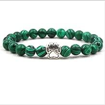 2019 Classic Tiger Eye Natual Stone Beaded Bracelet Men Silver Bear Paw Wood Bracelet Bracelets Bangles Prayer