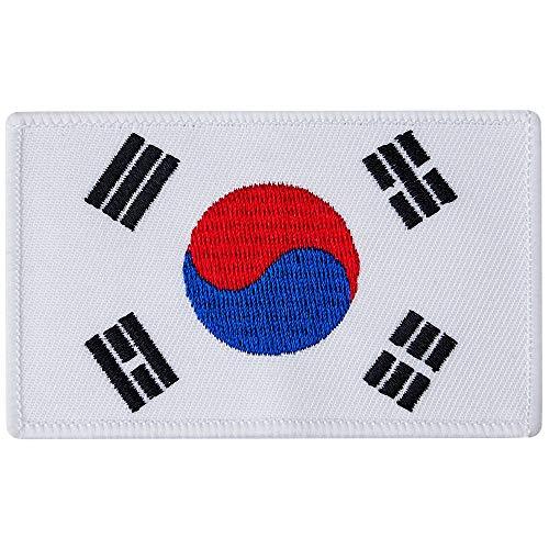 Blitz Unisex's Koreaanse vlag geborduurde badge, meerkleurig, één maat