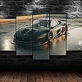 CCRTAR Imagen de coche deportivo clásico F355 Mural Moderno 5 Piezas Cuadros Decoracion 5 Lienzo Impresión, Modular Poster Mural, Listo Para Colgar