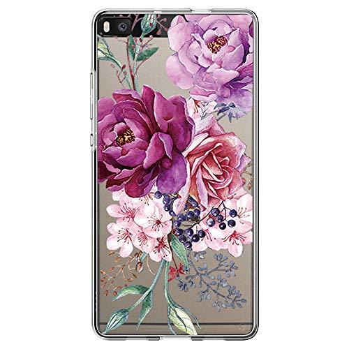 Vanki Compatibile con Huawei P8 Custodia, Huawei P8 Morbido TPU Custodia Cover Cristallo limpido Trasparente Slim Anti Scivolo Protezione Posteriore Cover per Huawei P8 (14)