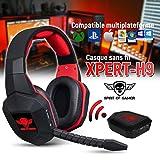 Casque Audio Gamer XPERT-H9 sans Fil Compatible PS3/PS4/XBOX One/Xbox 360/PC/MAC