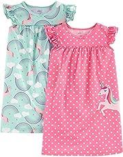 Simple Joys by Carter's Girls' Little Kid 2-Pack Nightgowns, Unicorn/Rainbow, 6-7