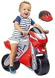 FEBER - Motofeber 2 Racing Correpasillos con Casco, Color Rojo (Famosa...