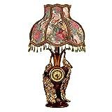 ZYYWAD Nachttischlampe Schlafzimmer Wohnzimmer Retro-Studie Nachttischlampe Pfau dekorative Tischlampe