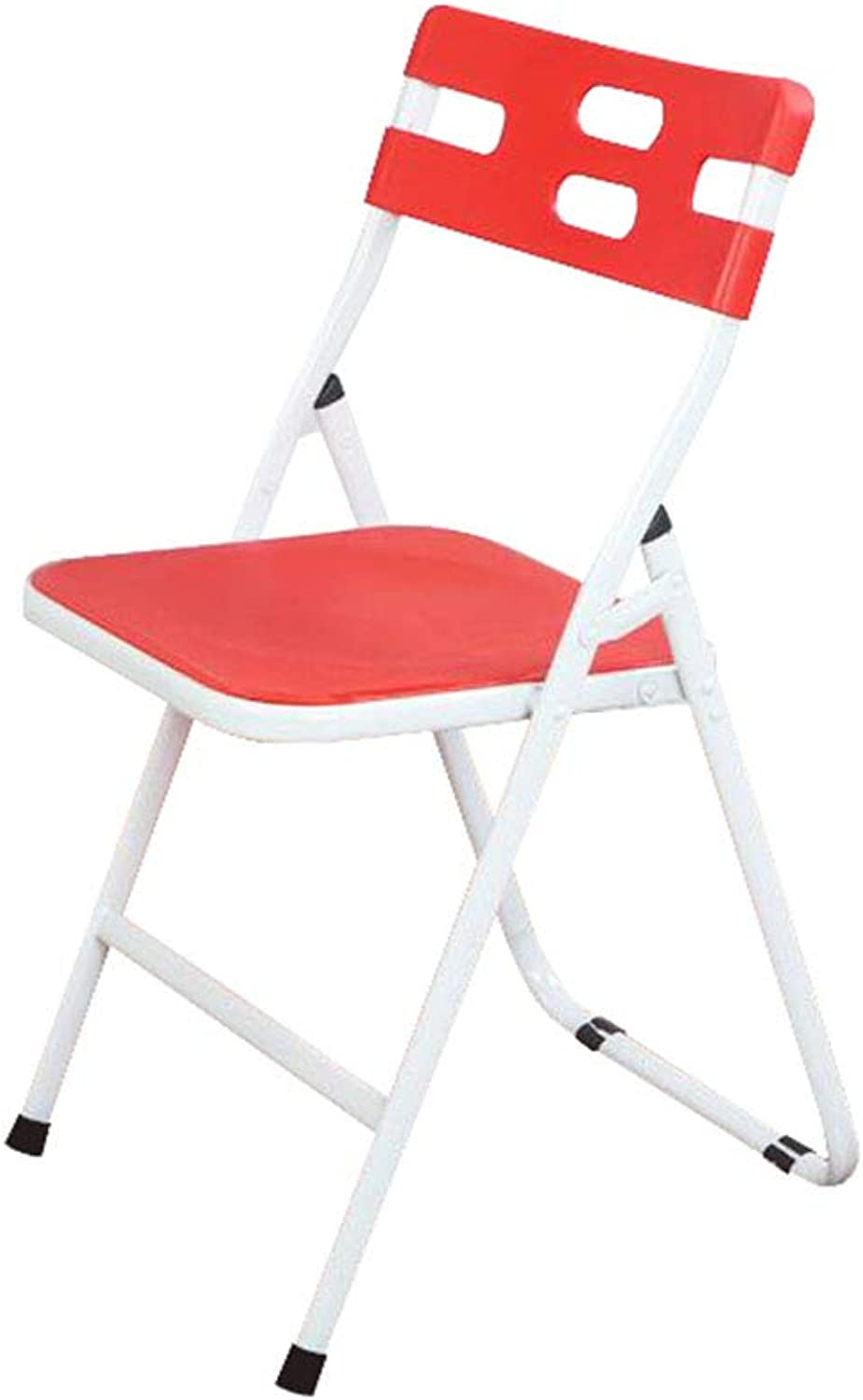 Folding Chair Office Desk Chair Staff Red Plastic Padded Student Training Modern