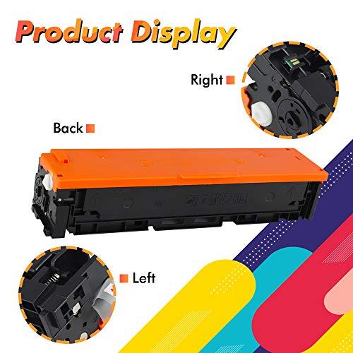Amstech Kompatibel 203X Toner Cartridge Replacement für HP 203X 203A CF540A CF540X für HP Color Laserjet Pro MFP M281fdw M281fdn M281cdw M280nw Pro M254dw M254nw M254dn M281 CF541X CF542X CF543X Toner