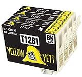 Yellow Yeti Ersatz für Epson T1281 Druckerpatronen Schwarz kompatibel für Epson Stylus SX235W SX425W SX435W SX445W SX125 SX130 S22 BX305FW BX305F SX440W SX438W SX420W SX230