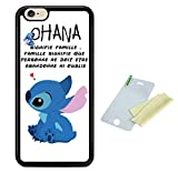 Coque silicone BUMPER souple IPHONE 7 / IPHONE 8 -Lilo stitch ohana signifie famille motif 1 DESIGN case+ Film de protection OFFERT