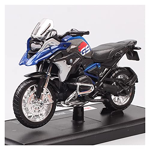 Boutique 1/18 For BMW R1200GS 2017 Motorcycle Adventure Bike Model Diecast & Toy Vehicles Replica Of Children's Collection (Color : Blue)
