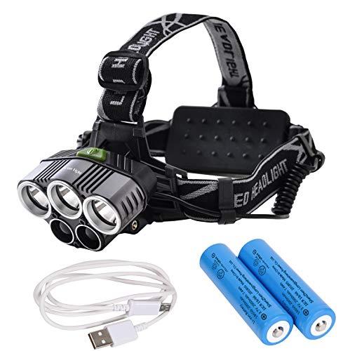 Tomo Light LEDヘッドライト 充電式 ヘッドライト 釣り 対防水コーティング ヘッデン 高輝度LED 5点灯モー...