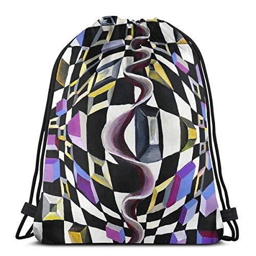 Cubes and Games Sport Sackpack Drawstring Backpack Gym Bag Sack