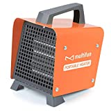 Electric Heater, 1500W Portable Ceramic Space Heater w/Adjustable Thermostat,...