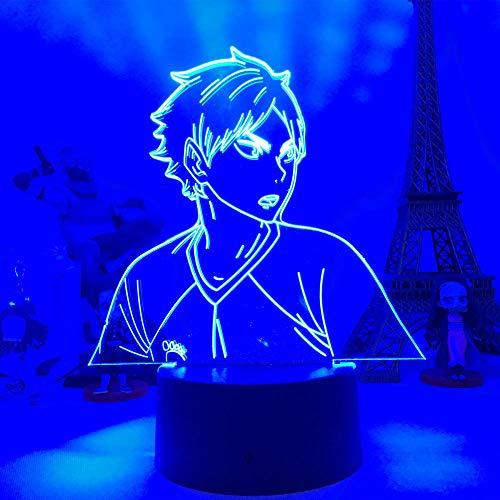 Anime Figur Lampe 3D Tisch Haikyuu Kageyama Tobio Licht für Kinder Schlafzimmer Dekor Coole Manga Gadget Kind Weihnachten - Fernsteuerung
