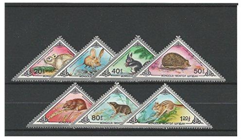 Briefmarken für Sammler - 1983 Kleine Säugetiere und Nagetiere Triangles Postfrisch stempel-satz/Mongolei
