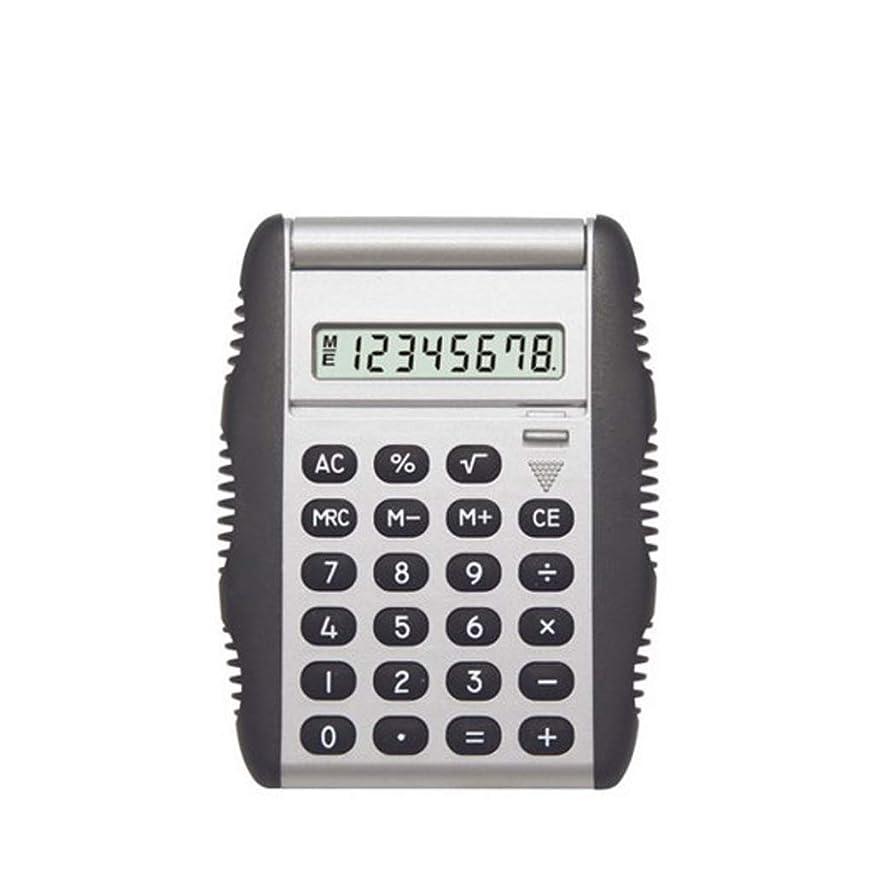 妻ラインナップ肺炎オフィス電卓 フリップコンピュータギフトビジネス電卓ミニ電卓サイズ:100mmX70mmX12mm