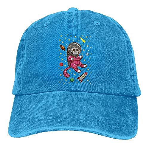 Hoswee Baseballmütze Hüte Kappe Kitty Cat in Space Plain Adjustable Cowboy Cap Denim Hat for Women and Men
